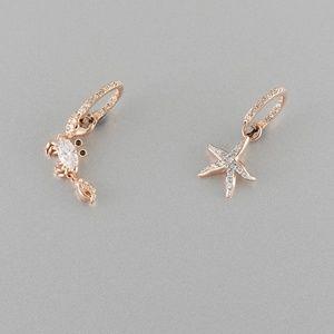 Swarovski Ocean Crab Pierced Earrings, White
